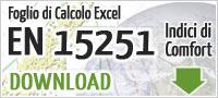Foglio excel en 15251 - Valutare e Progettare il Benessere Abitativo e Comfort Ambientale negli Edifici