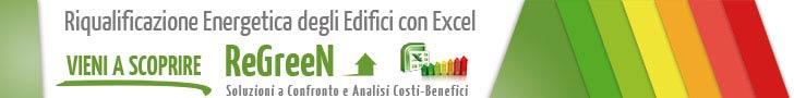 ReGreeN, foglio excel per la riqualificazione energetica degli edifici