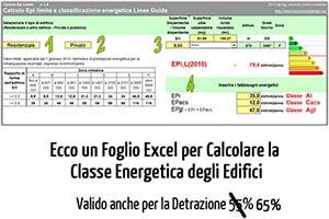 Calcolo certificazione energetica excel
