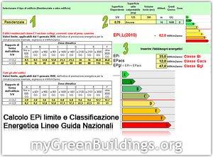 Certificazione Energetica Edifici: Calcolo Epi Limite con Foglio Excel Gratuito
