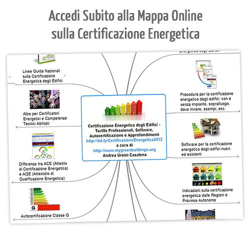 Mappa online certificazione energetica edifici