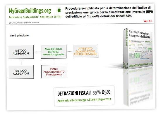 Calcolo prestazione energetica edifici e detrazioni fiscali 65%