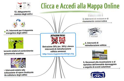 Detrazioni fiscali 50% 36% interventi ammessi - Mappa online