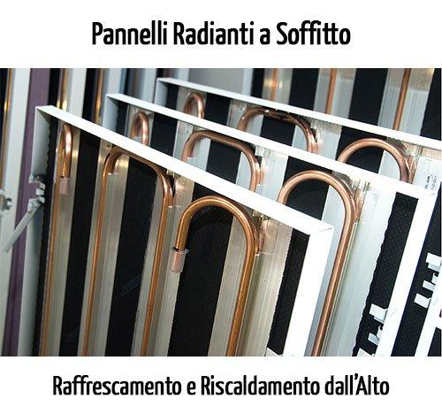 Pannelli radianti a soffitto raffrescamento e for Pannelli radianti infrarossi portatili