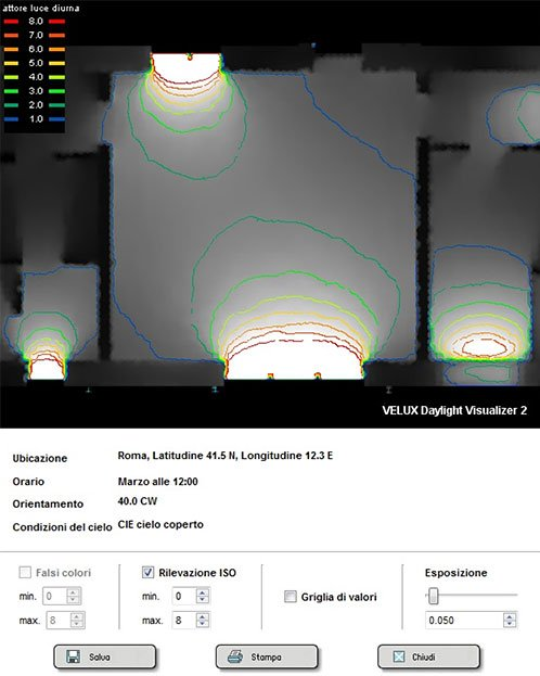 Rilvazione ISO Velux Daylight Visualizer