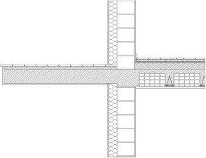 Sezione ponte termico balcone parete con Therm