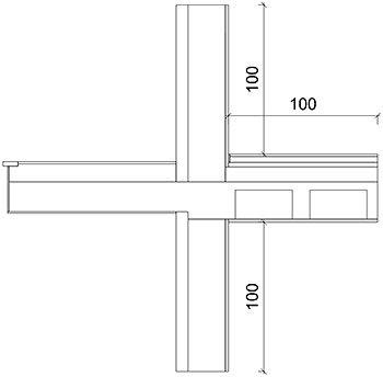 Sezione ponte termico balcone UNI 10211 parte 1