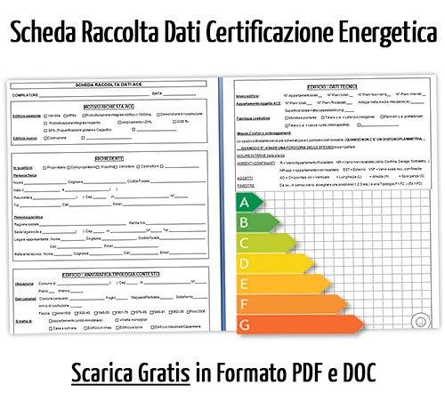 Scheda raccolta dati certificazione energetica edifici
