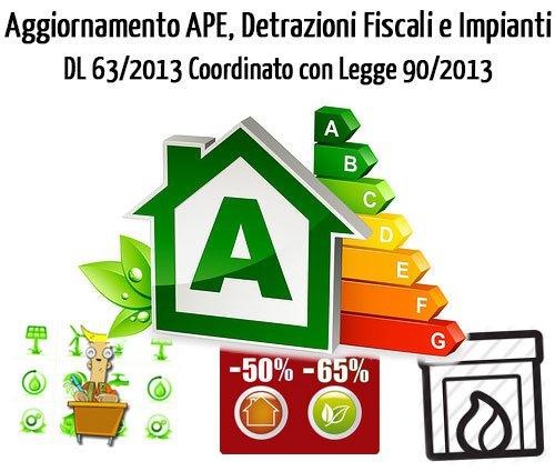 Nuovo Attestato di Prestazione Energetica e Detrazioni Fiscali nel DL 63-2013