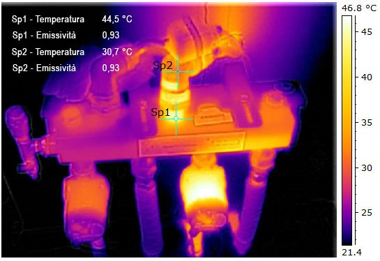 Termografia-collettore-impianto-a-pannelli-radianti