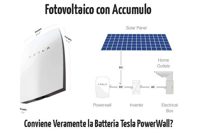Fotovoltaico con accumulo batteria domestica tesla powerwall