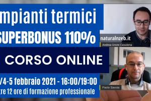 Corso online impianti termici superbonus 110%