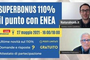 Superbonus 110% con l'Ing. Domenico Prisinzano di ENEA: Webinar Gratuito
