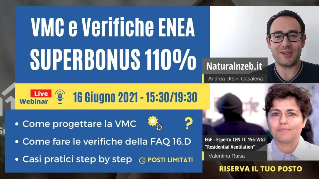 VMC Superbonus 110 Verifiche ENEA